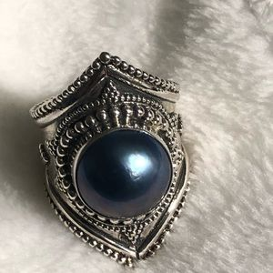 Jewelry - Blue Faithful Pearl in Sterling Silver